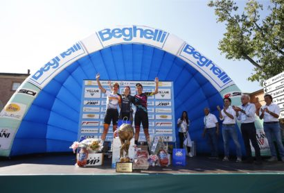 GP Beghelli 2016 - Donne - Monteveglio - Monteveglio 79,8 km - 25/09/2016 - Chloe Hoskijg (Wiggle High5) - Marianne Vos (Raboliv Women Cycling Team) - Barbara Guarischi (Canyon Sram Racing) - foto Luca Bettini/BettiniPhoto©2016