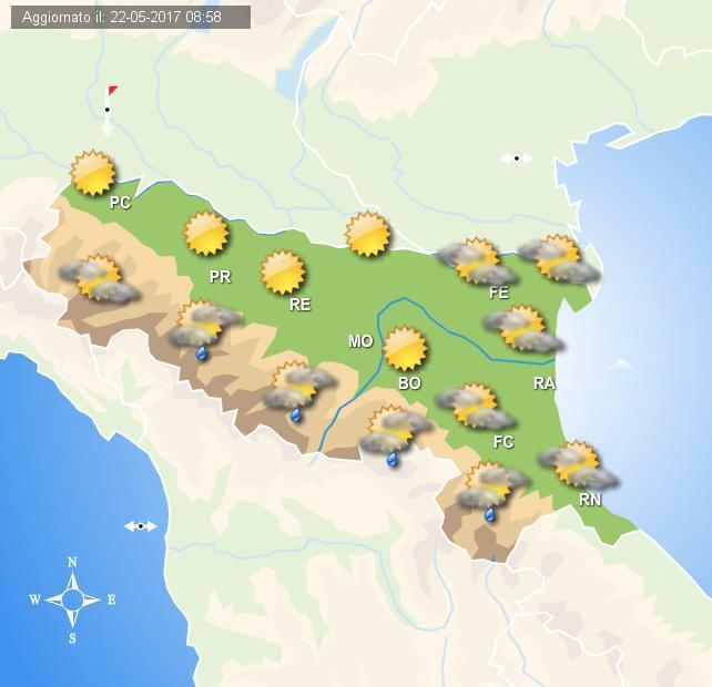 Nuvolosità in aumento sulla penisola, miglioramento previsto nel fine settimana
