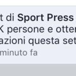 Grazie a tutti i lettori di Sport Press