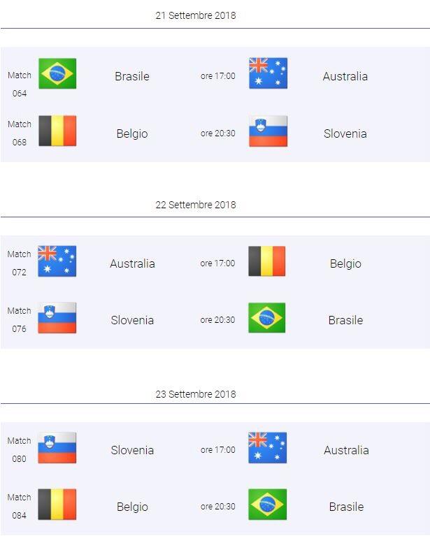 Mondiali volley, il programma gare a Bologna