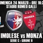 Serie C, domani l'Imolese ospita il Monza